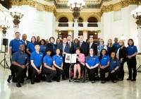 March 19, 2019: Senator Christine Tartaglione and State Rep. Jared Solomon hosted volunteers from the International We Love U Foundation at the Pennsylvania Capitol today and presented them with a Certificate of Recognition for their many community service projects in the 2nd Senatorial District and Greater Philadelphia.