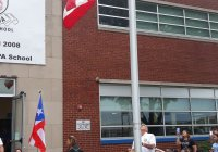 September 16, 2019: Senator Tartaglione attends Puerto Rican flag raising ceremony at Antonia Pantoja Charter School.