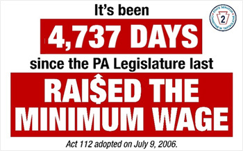 It's been 4,737 Days since the PA Legislature last Raised the Minimum Wage