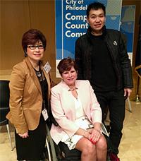 Grace Kong, Senator Tartaglione, Leon Wang