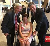 Senator Tartaglione, the newest trustee of Temple University, joined former State Rep. George Kenney and former Lt. Gov. Jim Cawley to help dedicate the newly constructed Charles Library on Temple's North Philadelphia campus.