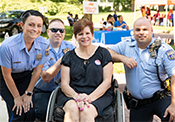 Senator Tartaglione welcomed officers from Philadelphia's 15th Police District to her Community Picnic