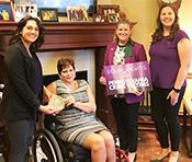 Caitlin Collis, Senator Christine Tartaglione, Jennifer Storm and Becca Zelner (right)