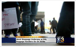 Baggage Handlers Go On Strike At PHL