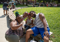 August 8, 2019 – State Sen. Christine Tartaglione's Community Picnic was a huge hit with the children and their families who gathered at Fairhill Square Park today to delight in free music, hot dogs, soft pretzels, water ice, face painting, and the senator's popular back-to-school backpack giveaway. Hundreds of youths walked away wearing new school bags on their shoulders and smiles on their faces.