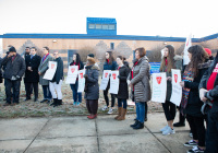 January 8, 2020: Senate Democrats stood at sunrise today with House colleagues, parents, teachers and city officials outside Carnell Elementary School to decry the continued contamination of Philadelphia schools and demand at least $170 million from the state's Rainy Day Fund to remediate toxic schools. Carnell has been closed since mid-December due to asbestos contamination.