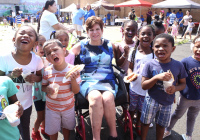 August 16, 2019 – State Senator Christine Tartaglione handed out free backpacks and back-to-school supplies to more than 400 appreciative children at the Lawncrest Recreation Center yesterday as she hosted a Community Picnic at the bustling neighborhood playground for the first time in the 15-year history of her late-summer event series.