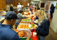 October 11, 2019:  State Senator Christine Tartaglione and state Representative Angel Cruz battled to a split decision in their cook-off at Ronald McDonald House in North Philadelphia.