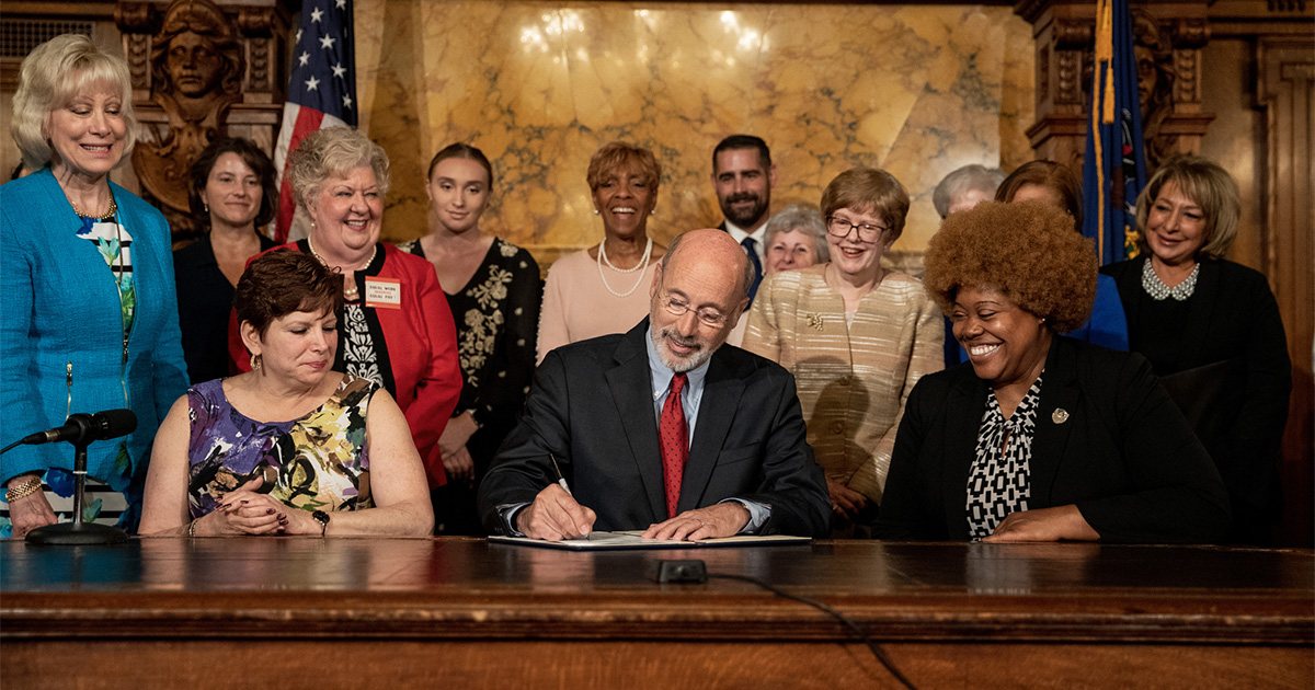 Senator Tartaglione Joins Governor Wolf to Unveil Gender Pa Equality Measures