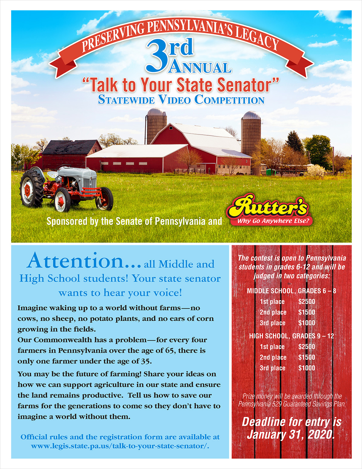 """Talk to your Senator"" Video Competition"