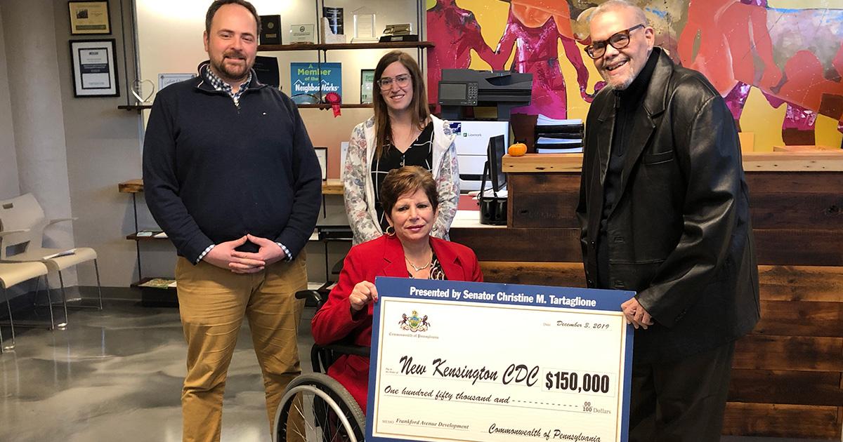 Senator Tartaglione Presents $150,000 State Grant for Redevelopment of Frankford Avenue Storefronts
