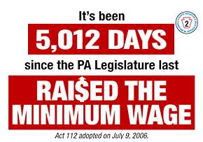It's been 5,000 Days since the PA Legislature last Raised the Min Wage