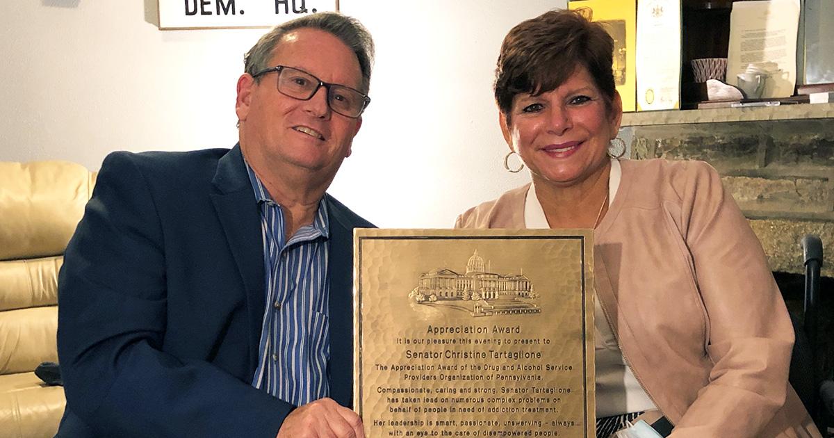 Drug & Alcohol Treatment Providers Present Senator Tartaglione with Annual Appreciation Award