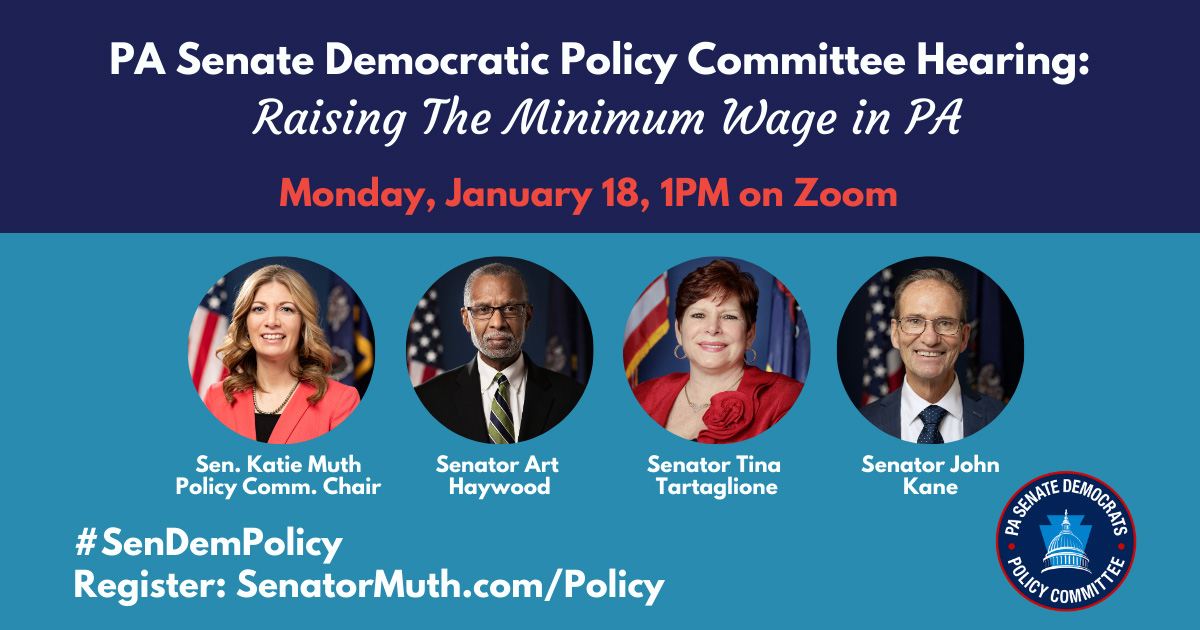Policy Hearing - Raising The Minimum Wage in PA