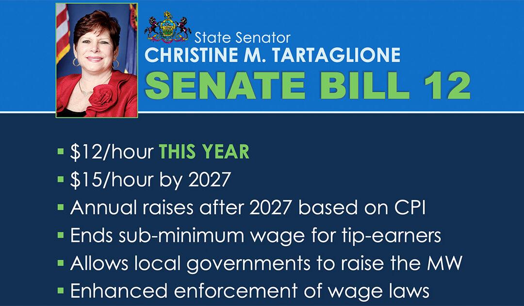 Senator Tartaglione, Congressman Boyle Detail Efforts to Raise Minimum Wage for PA and Nation